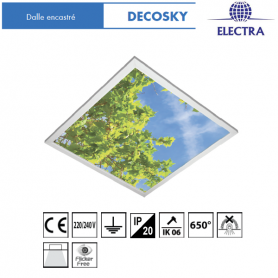 dalles led electra decosky luminaire led